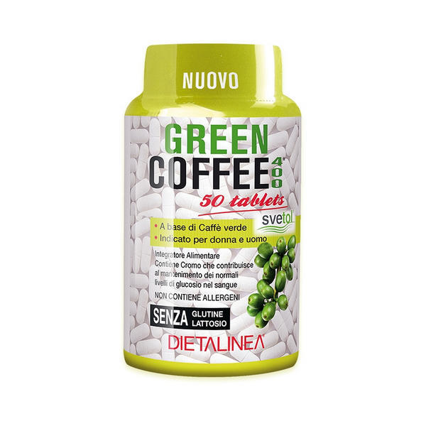 Green coffee 400 tablets con caffè verde