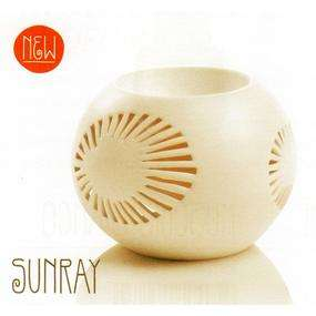 immagine di Brucia essenze in ceramica avorio Sunray